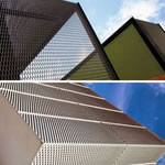 Architectural Perforated Metal Exterior Wall Cladding