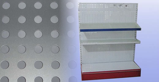 Perforated Metal Stands