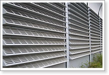 Perforated Louvers as Portable Window Screen